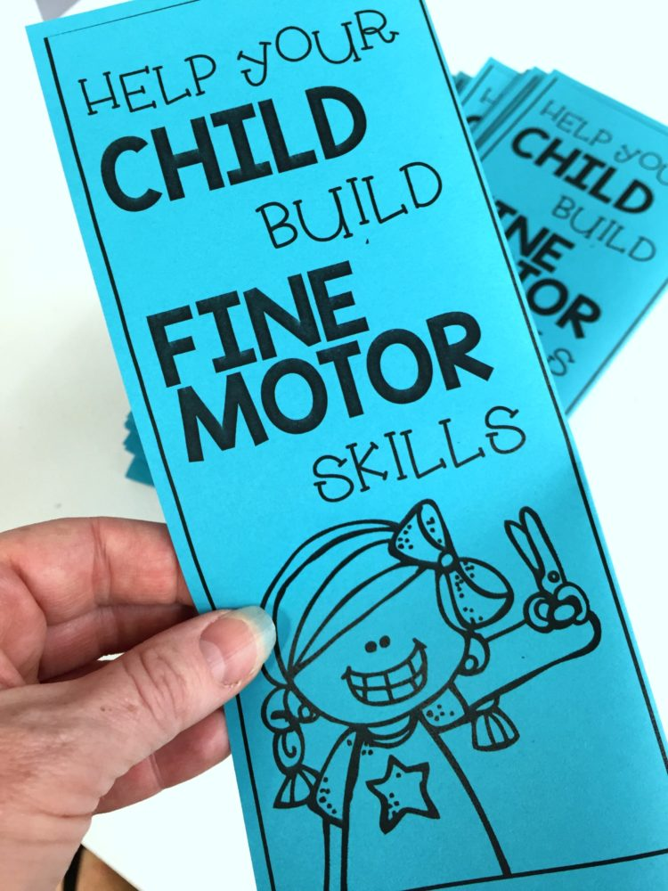 Fine Motor Parent Brochure
