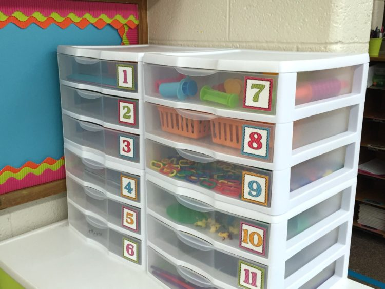 Fine Motor Work Drawers in Kindergarten