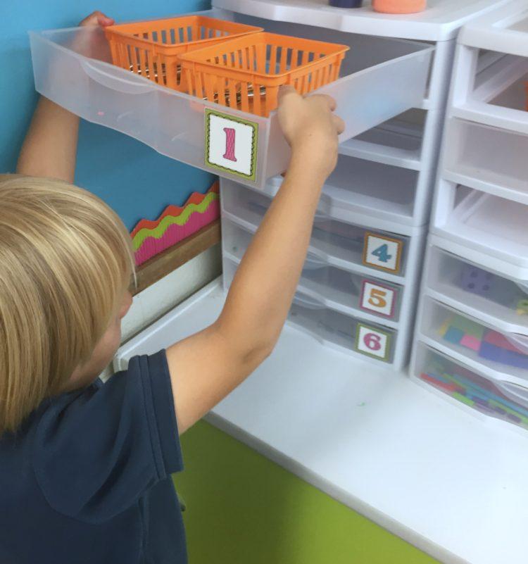 Fine Motor Work Stations In Action in Kindergarten