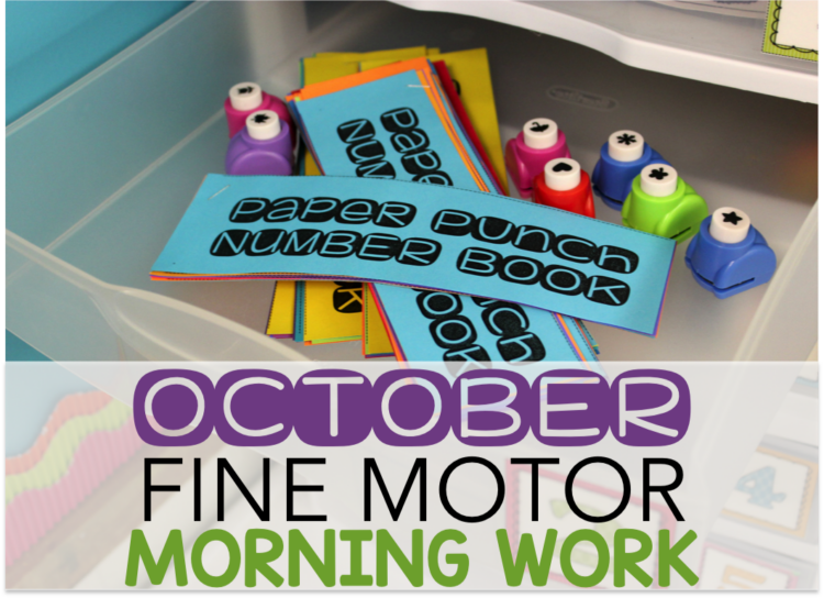 October Fine Motor Morning Work Stations