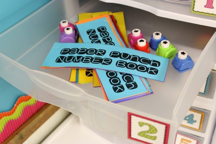 Paper Punch Number Books Kindergarten Fine Motor Work