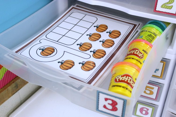 Kindergarten Morning Work Fine Motor Play-doh Number Mats