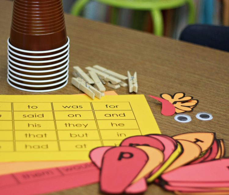 Thanksgiving Sight Word Activity