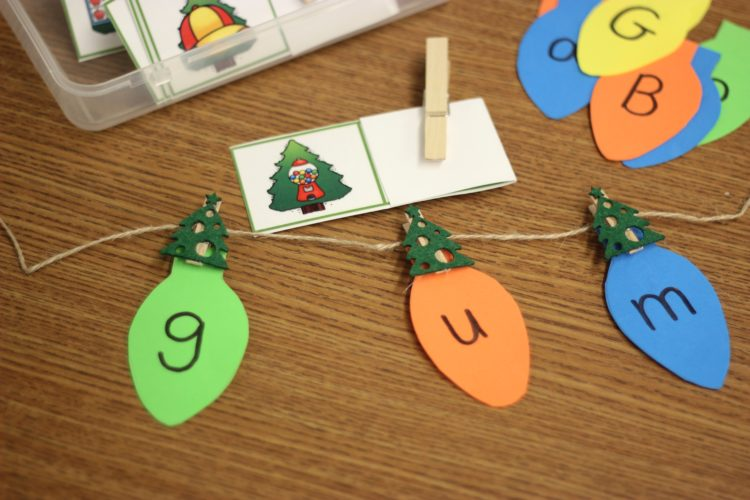 December Fine Motor Morning Work in Kindergarten