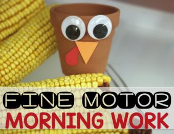 November Fine Motor Morning Work Stations