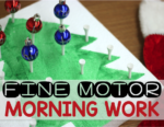 December Morning Fine Motor Work Stations