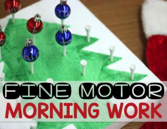 December Morning Fine Motor Work Stations