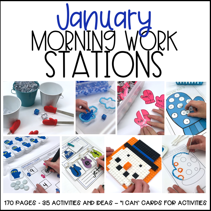 January Morning Work Stations
