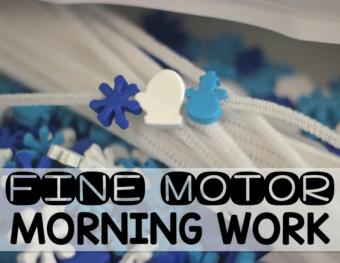 January Fine Motor Morning Work