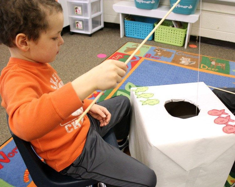January Fine Motor Morning Work for Kindergarten - Sight Word Ice Fishing