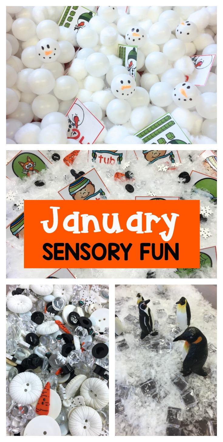 January Sensory Fun Differentiated Kindergarten