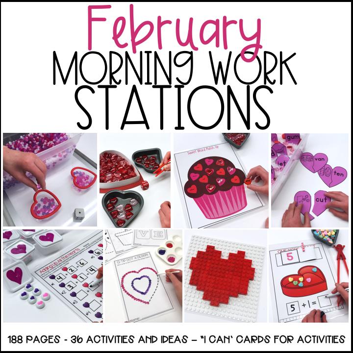 February Fine Motor Morning Work Stations Differentiated Kindergarten - Download Kindergarten February Morning Worksheets Gif