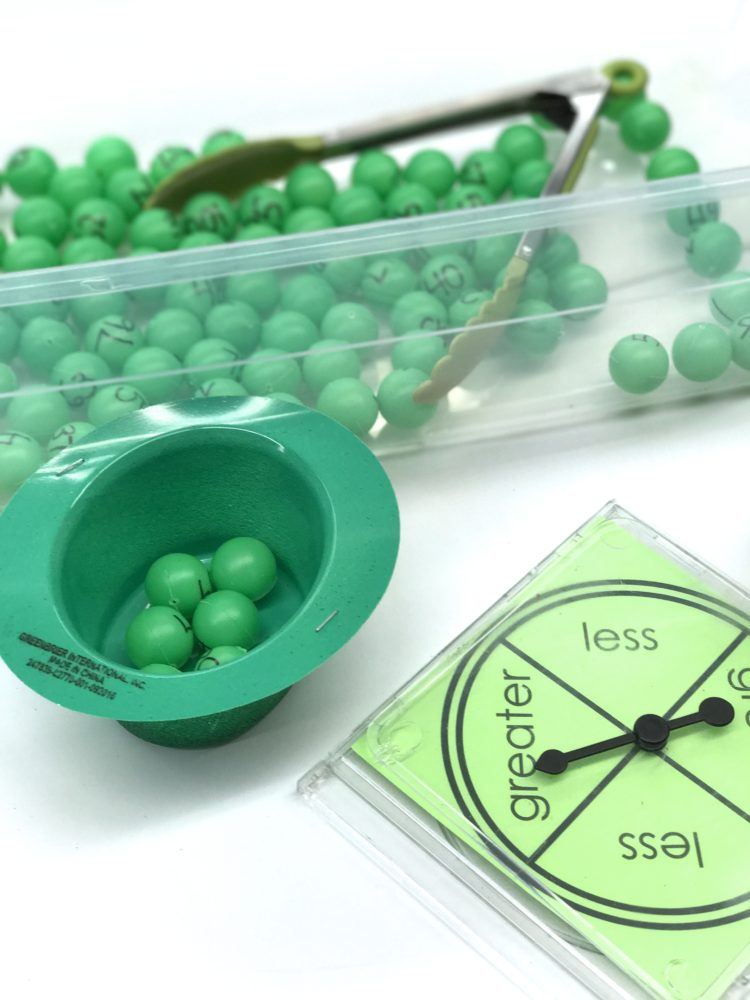 St. Patricks/March Fine Motor Morning Work Stations - ping pong ball game