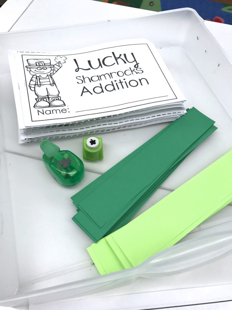 St. Patricks/March Fine Motor Morning Work Stations - Hole punch