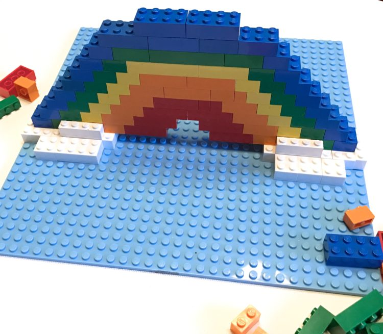 St. Patricks/March Fine Motor Morning Work Stations - Rainbow Lego Challenge
