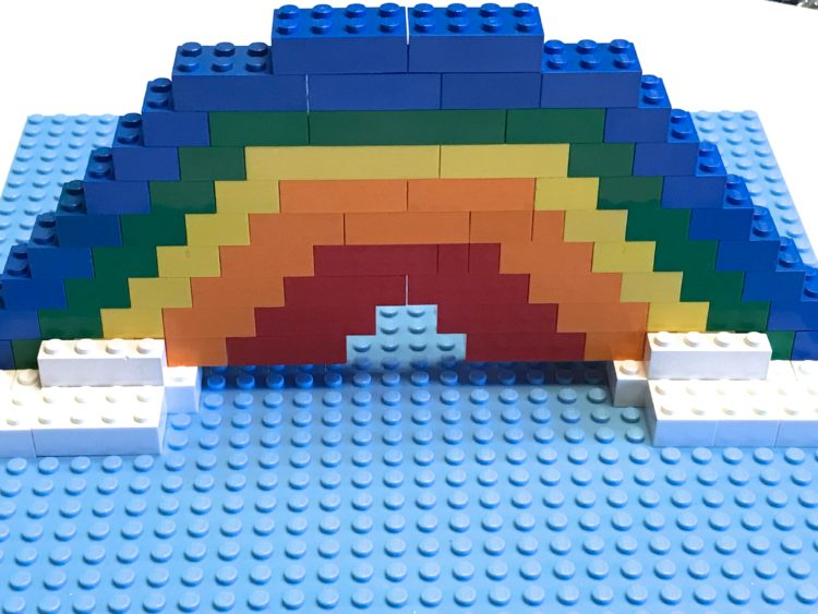 St. Patricks/March Fine Motor Morning Work Stations - Lego Rainbow
