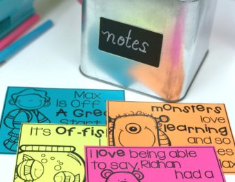 Organize A Year of Editable Positive Notes with Color