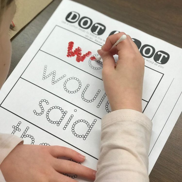 Dot A Lot!!! Fine Motor meets sight words!