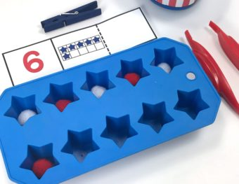 Star Spangled Ten Frame Freebie