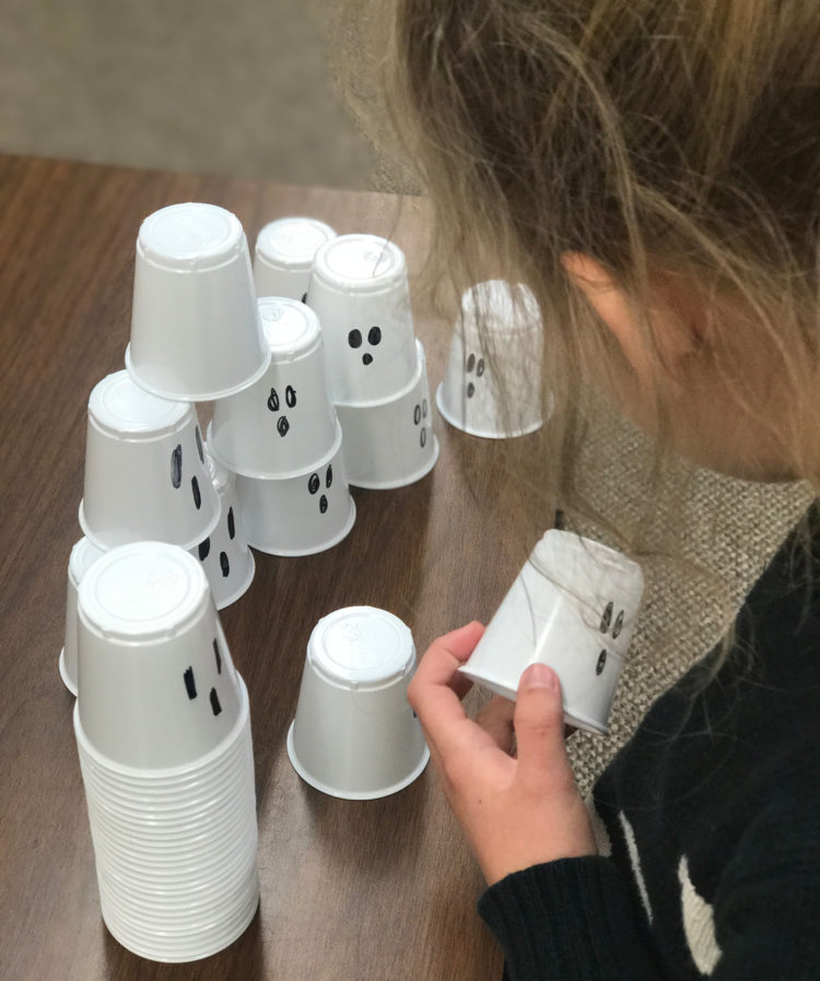 cup stacking ghosts
