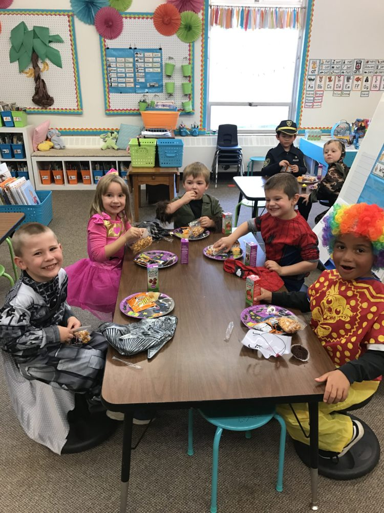 classroom Halloween celebration