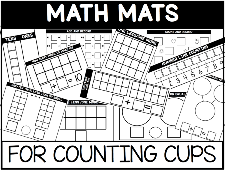 math mats for counting cups