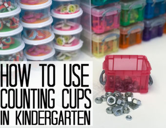 Counting Cup Math Mats