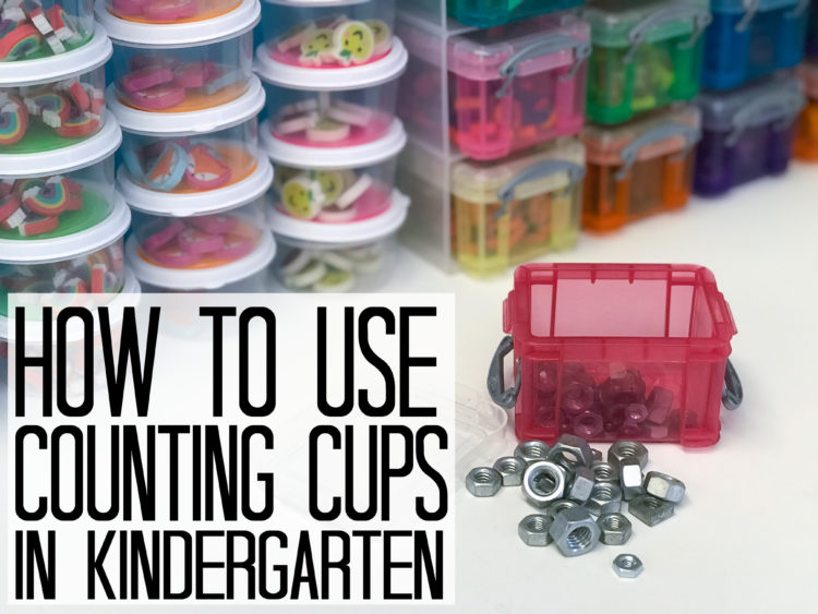 Using counting cups in preschool, kindergarten or even first grade is an engaging, fun way to practice a variety of math skills.  This blog post offers tips for organizing and using counting cups, suggestions for items to use as counters and a free set of printable math mats for use in your classroom or as a tool for homeschoolers. These hands-on activities are great for math centers, stations, or rotations.  They are also a good resource for teaching small group guided math.