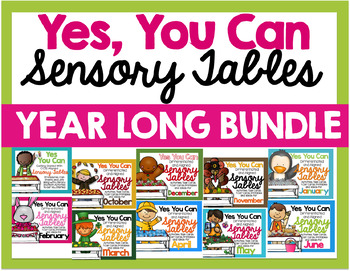 A Year's Worth of Sensory Table – Sensory Bin Fun: Activities/Task Cards BUNDLE