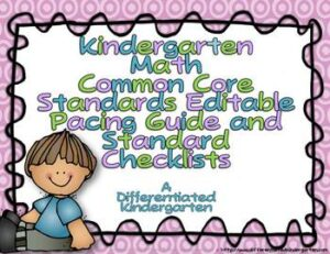 Pacing Guide/Checklist CC Archives - Differentiated Kindergarten