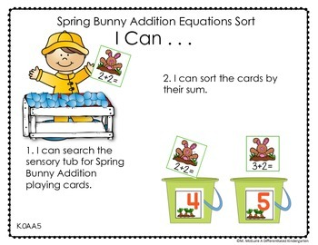 image about Printable Task Cards identified as Sensory Desk - Sensory Bin Things to do, Activity Playing cards Printables For April