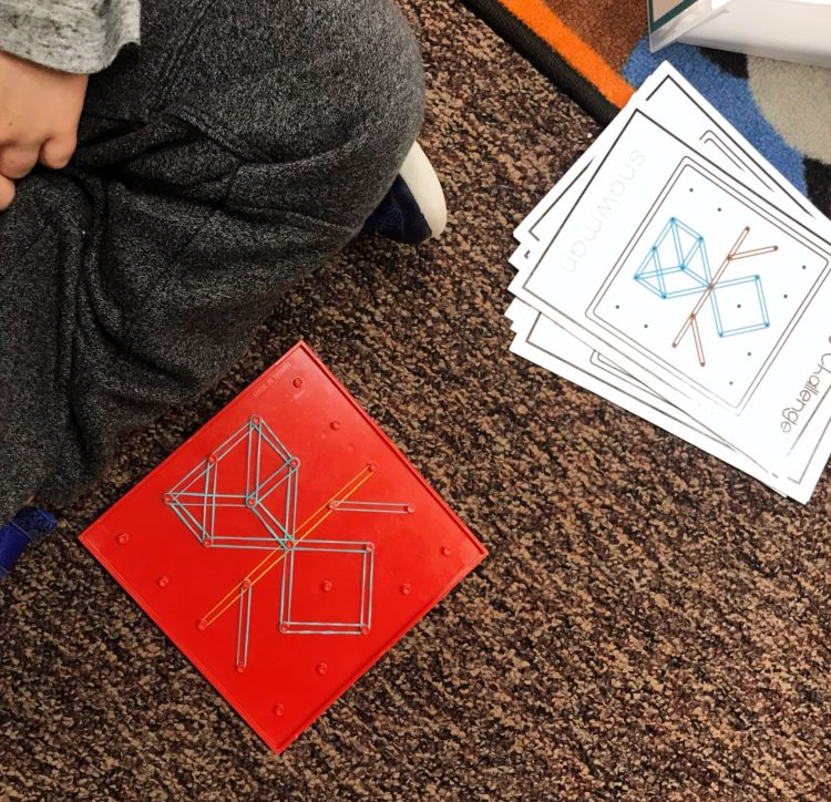 Geoboard Alphabet Activities