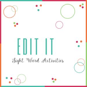 Edit It-Sight Word Activities
