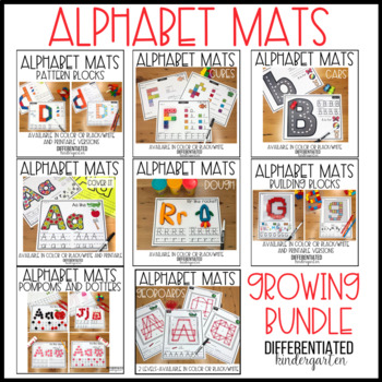 Hands-On Alphabet Mat Activities Growing Bundle