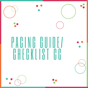 Pacing Guide/Checklist CC