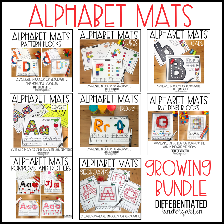 Hands-On Fine Motor Alphabet Mats