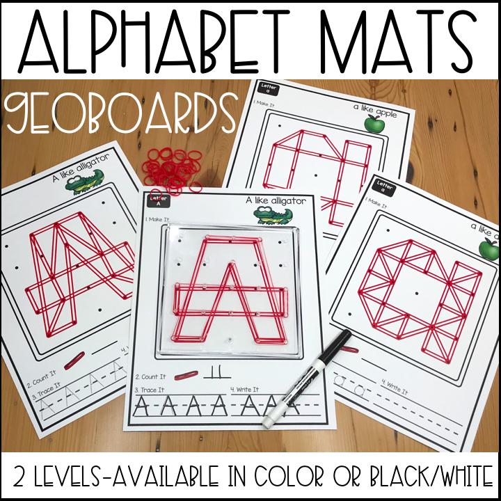 Geoboard Alphabet Mats