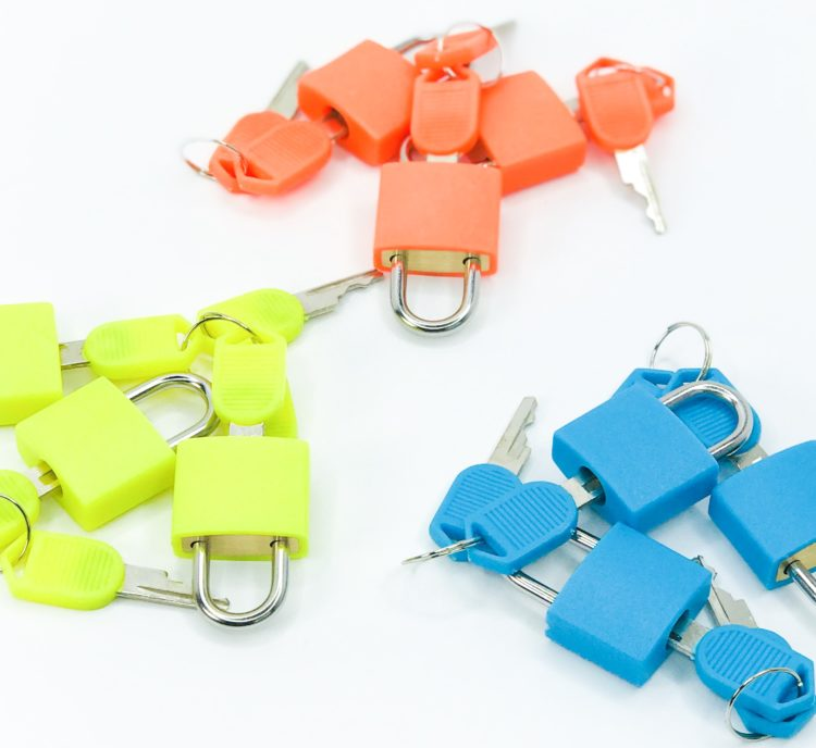 color coded locks and keys