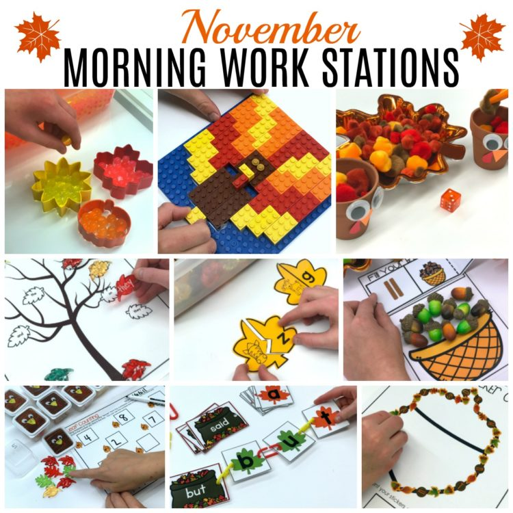 November Morning Work Materials List