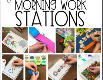 Getting Started with Morning Work: Materials
