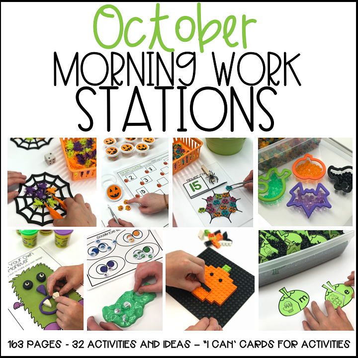 Morning Work Activities for October