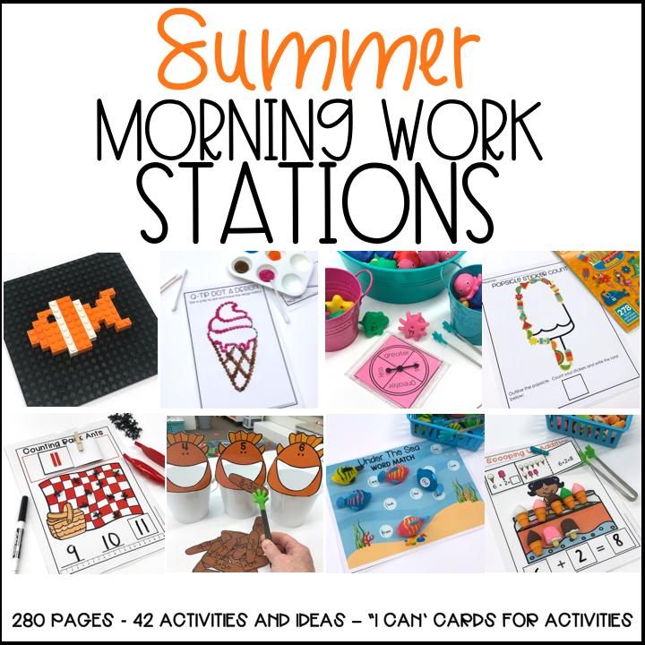 Summer Morning Work Materials