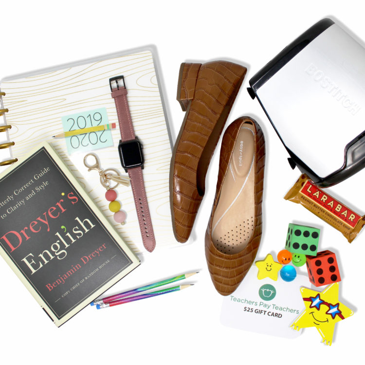 I'm partnering with @EasySpirit Official to give away an amazing #Move For Learning prize kit including a pair of EasySpirit Shoes, Bostitch Quiet Sharp Glow Electric Sharpener, Jord padded Apple watch band, $25 Teachers Pay Teacher gift card, Parcelly keychain, Happy Planner, Lara bar, Dyeyers English book and Oriental Trading School Treasure Chest Assortment.