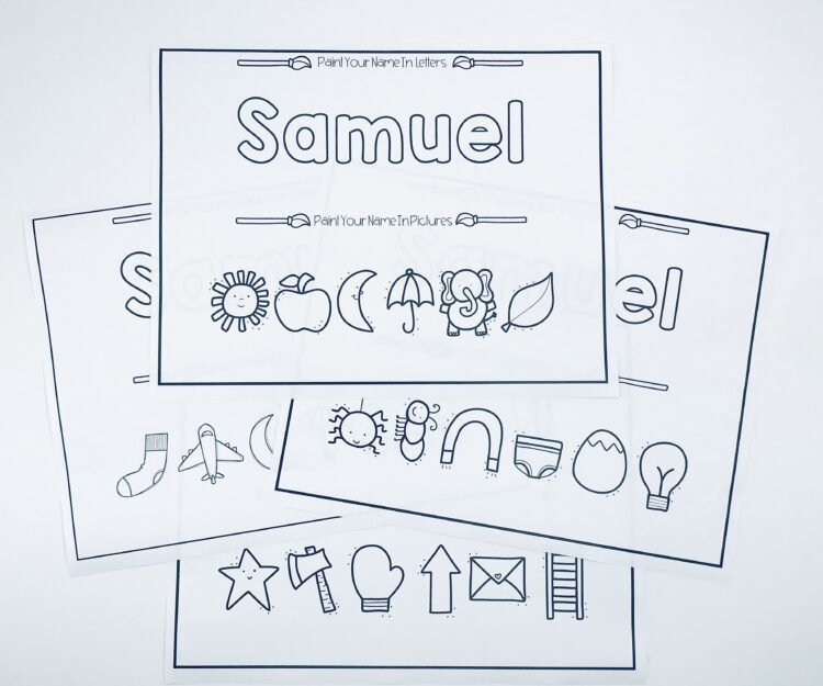 Printable letters and pictures sheets