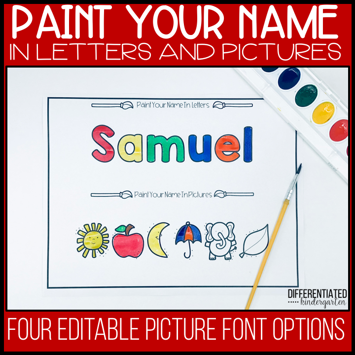 Paint your name in letters and pictures cover.