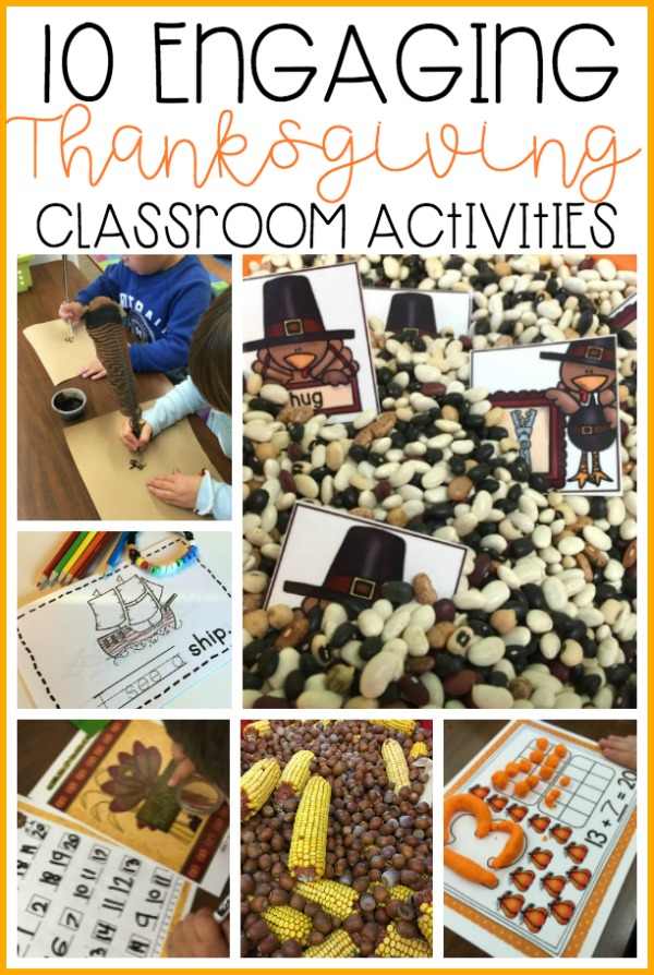 Thanksgiving in Kindergarten is all about turkeys, pilgrims, and fun.  Here are some great hands-on, primary activities that will keep your students engaged while learning essential skills.  Sensory activities, literacy, math and so much more.  You'll want to check out these activities to get some great ideas for your own classroom before the holiday.