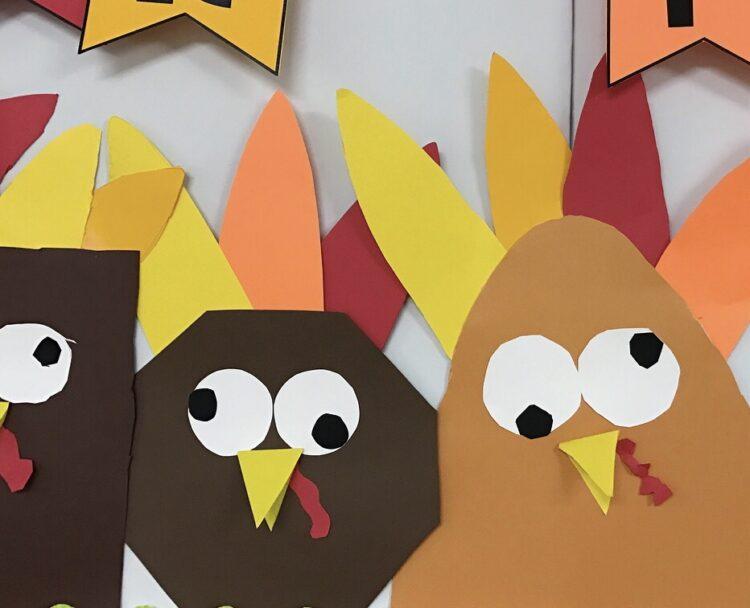 shape turkeys paper craft