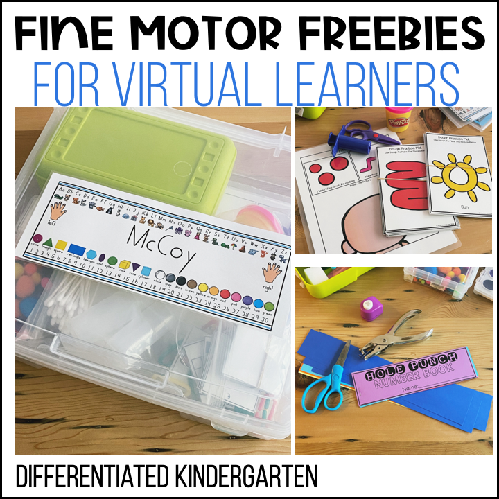 Even students who are learning virtually need to have opportunities to explore and build fine motor skills.  These take home fine motor kids for virtual learners are just the thing.  I used the materials in here along with video lessons I created to get parents and students the help they need to build essential fine motor skills and experience.