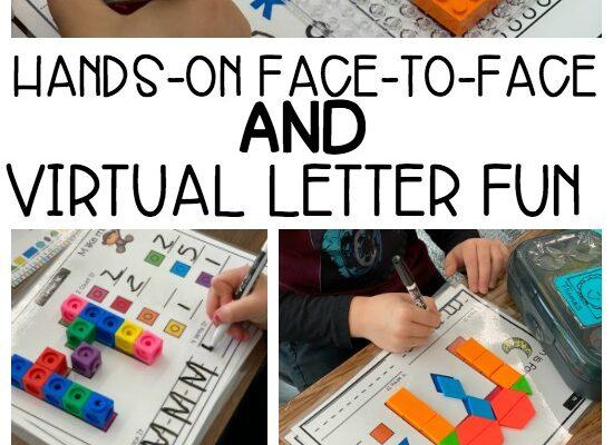 Virtual Hands-On Alphabet Mats and Activities